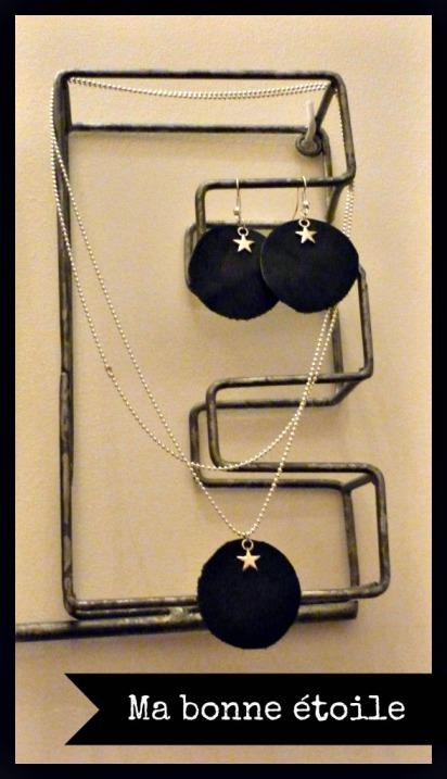 bijoux en cuir et étoile