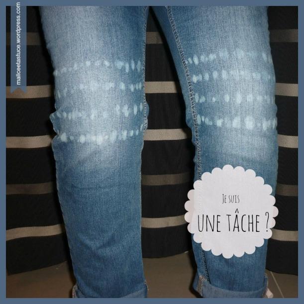 D colorer un jean l eau de javel for Tache eau de javel