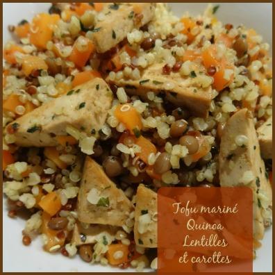 tofu quinoa lentilles carottes