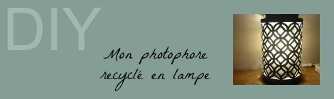 Recyclage de photophore en lampe