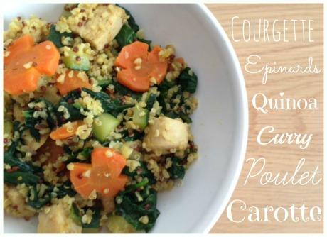 quinoa poulet epinards courgettes carottes