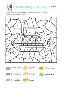 Coloriage-magique-le-sous-marin